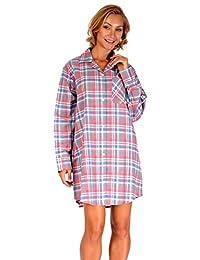 Cindy Ann Platinum Sport Ladies 100% Cotton Flannel Sleep Shirt