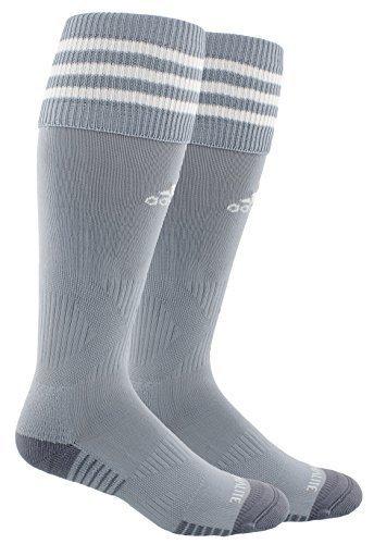Adidas Copa Cushion III Over The Calf Soccer Socks (Large, Light Grey/White)
