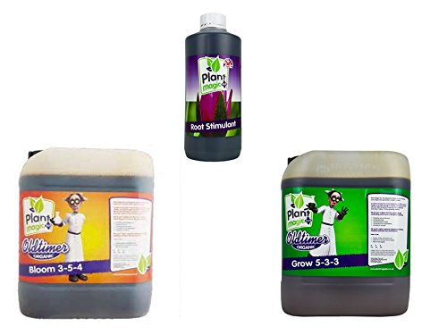 Plant Magic Old Timer Bloom 5 Liter & Old Timer Grow 5 Liter & Plant Magic Root Stimulant 1 Liter