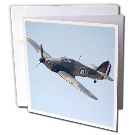 - Hawker Hurricane, British and allied WWII Fighter Plane - Greeting Cards, 6 x 6 inches, set of 12 (gc_76037_2)
