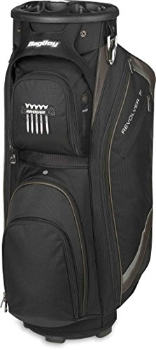 Bag Boy Unisex Revolver FX Cart Bag, Black/Charcoal/Silver