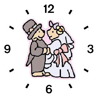 Wedding Couple Teddy Bears - Bear Animal - WATCHBUDDY DELUXE TWO-TONE THEME WATCH - Arabic Numbers - Black Leather Strap-Size-Large ( Men's Size or Jumbo Women's Size )
