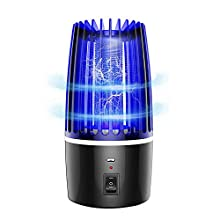Electric Bug Zapper, 4000V Powerful Insect Killer, Mosquito Zappers, Mosquito lamp, Insect Killer Bug Fly Pests Attractant Trap Patio for Outdoor and Indoor Hangable