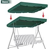 """BenefitUSA Patio Outdoor 77""""x43"""" Swing Canopy Replacement Porch Top Cover Seat Furniture (GREEN)"""