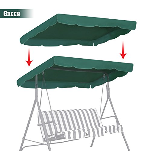 BenefitUSA Patio Outdoor 77 x43  Swing Canopy Replacement Porch Top Cover  Seat Furniture  GREEN. Home Trends Patio Furniture  Amazon com