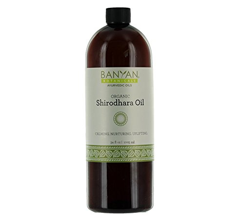 Banyan Botanicals Shirodhara - Certified Organic, 34 oz - Calming, nurturing, uplifting - A tridoshic blend that clears and calms the mind*