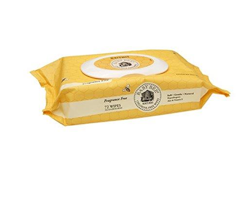 Burt's Bees Baby Bee Chlorine-Free Wipes, 72 ea