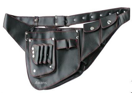 Fondina, Forbici Per Parrucchiere Bustina, Borsa, Cintura, alta qualità PU Pelle Awans HL2