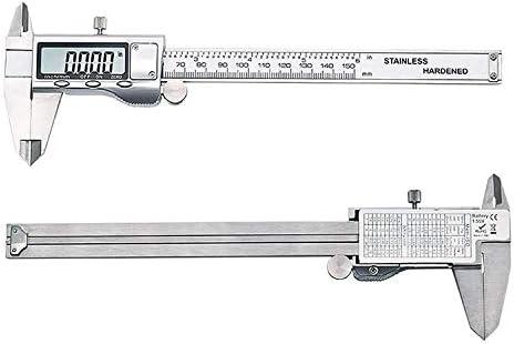 MTCWD Caliper Vernier Callipers Caliper Digital Caliper 150Mm Steel Inch Electronic Lcd Vernier Caliper Measuring