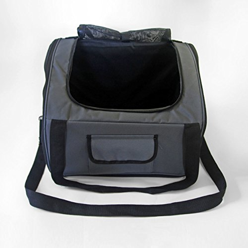 Iconic Pet FurryGo Luxury Booster Seat, Small, Dark Grey by Iconic Pet (Image #1)