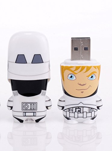 Mimobot Storm Trooper Unmasked Luke Skywalker USB Flash Jump Drive 8GB - Star Wars Character ()