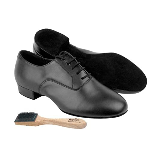"Men Ballroom Dance Shoes from Very Fine C919101 with Shoe Brush 1"" Heel"