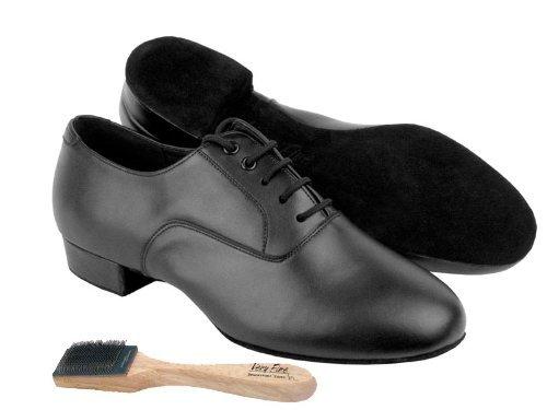 """Herren Ballroom Dance Schuhe von Very Fine C919101 mit Schuhputzer 1 """"Heel Schwarzes Patent"""