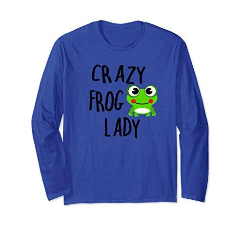 Unisex Crazy Frog Lady Long Sleeve T Shirt Medium Royal ()