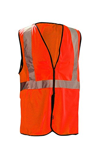 OccuNomix ECO-GCB-O4/5X High Visibility Value Mesh 5-Point Break-Away Hook & Loop Safety Vest, Class 2, 100% ANSI Polyester Mesh, 4X-Large / 5X-Large, Orange