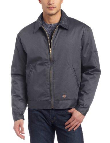 Dickies Men's Lined Eisenhower Blouse Long Sleeve Jacket Charcoal