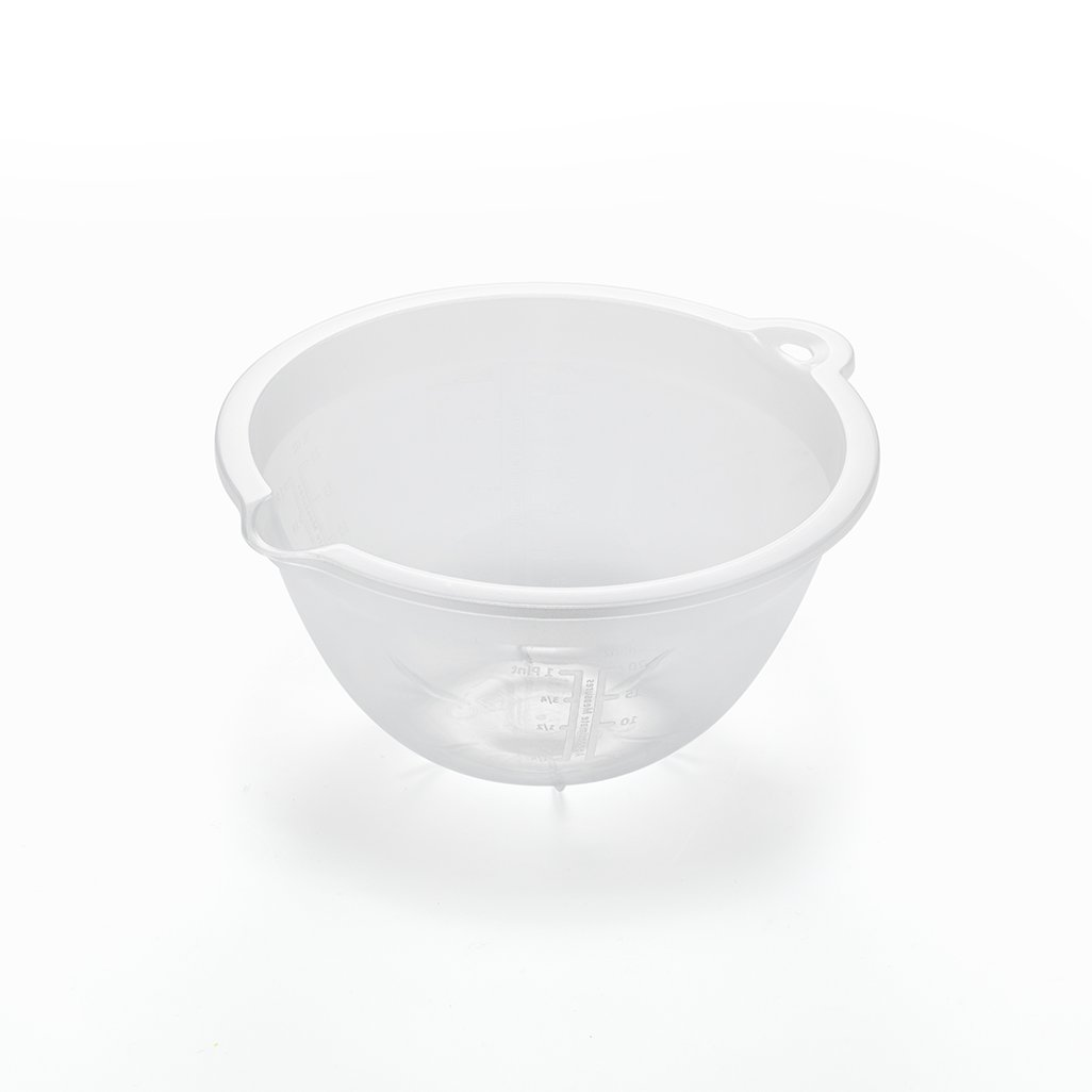 Addis 518004 Small Plastic Mixing Bowl, Transparent Addis Housewares Ltd