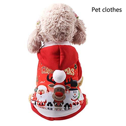 Adoeve Pet Dog Casual Christmas Print Button Closure Winter Warm Sweatshirts Dresses