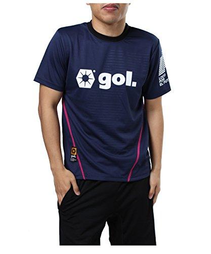 カウンターパート落ち着いてスツールゴル サッカーウェア プラクティスシャツ 半袖 G842-513 NVY L