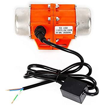Concrete Vibrator AC Vibration Motor 40/50/100W Vibrating Asynchronous Vibrator 110V 3600RPM USA (100W)