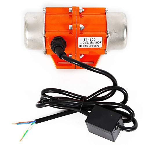 (100W Vibration Motor AC110V 3600rpm Industrial Single Phase Asynchronous Vibrator for Shaker Table (100W))