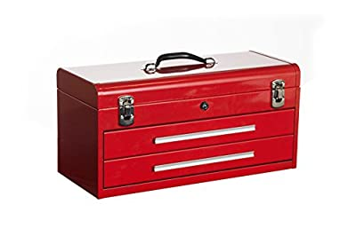 "Kennedy Manufacturing 220R 20"" Hand-Carry 2-Drawer Tool Box, Industrial Red"