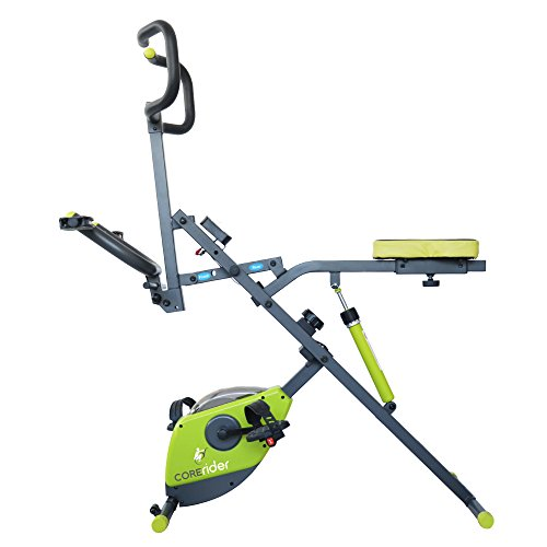 Corerider 2-in-1 CORE and AB fitness machine, delivers a full body workout, combining muscle toning, fat burning cardio and endurance. ()