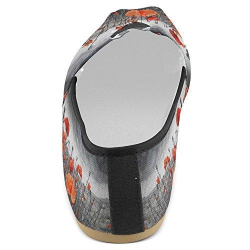 Mocassini Da Donna Di Interestprint Classic Canvas Casual Slip On Fashion Scarpe Sneakers Mary Jane Flat Poppy 1