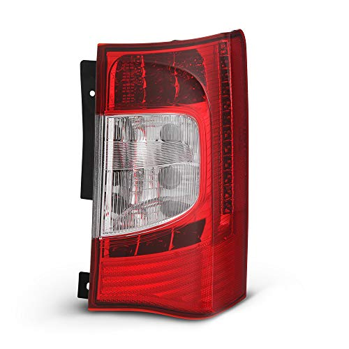 VIPMOTOZ Red Lens OE-Style Tail Light Lamp Assembly For 2011-2016 Chrysler Town & Country Minivan, Passenger Side