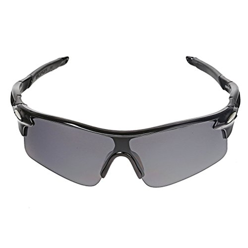 Protective Outdoor Sport Sunglasses UV 400 for Men + Women – Best for Golf – Running – Cycling – Fishing – Driving – 100% UV Protection – Eyewear Model 320D - With Sunglasses Shades