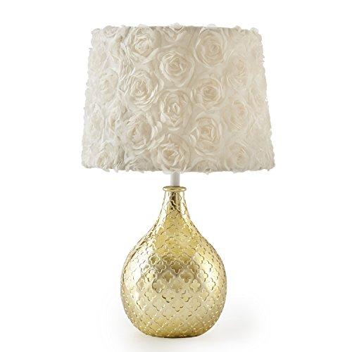 Levtex Baby Charlotte Gold Lamp Base and Shade (Lamp Base Gold)
