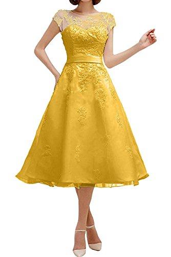 Festlichkleider Dunkel Partykleider Abschlussballkleider Blau Anmutig Himmel Promkleider La Kurzes Wadenlang Gelb Abendkleider mia Braut 8qgS7