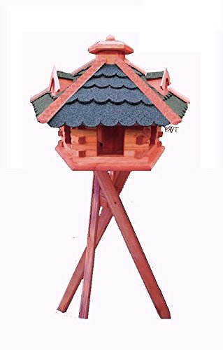Vogelhaus Vogelvilla Ständer Dreibein Futterhaus Vogelfutterhaus Futterhaus