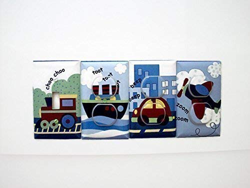 Transportation Light Switch Cover and Outlet Covers (Set 4)