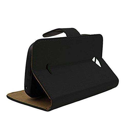 BLU Dash JR 4.0K D143K Case,Brand New Leather Case Slim Wallet with Stand Flip Case Credit Card Holder Slots for BLU Dash JR 4.0K D143K handmade reinstone case for BLU Dash JR 4.0K D143K