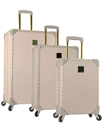 - Vince Camuto Jania 3 Piece Spinner Luggage Set (Latte)