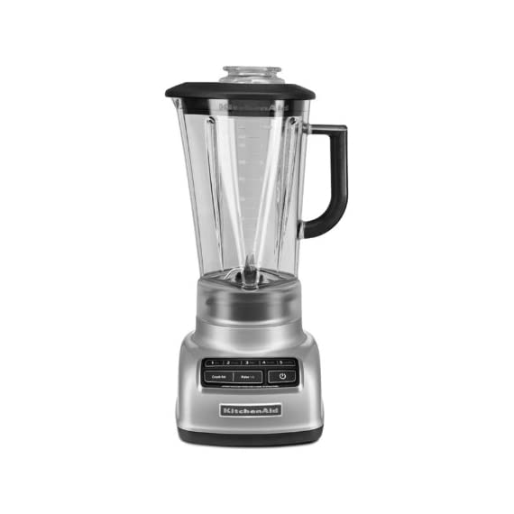 KitchenAid KSB1575 5-Speed Diamond Blender with 60-Ounce BPA-Free Pitcher 2 The diamond blending system ensures that all ingredients blend together quickly and efficiently The Intelli-Speed Motor Control senses contents and maintains optimal speed to power through all ingredients Stir, chop, mix, puree or liquify. Pulse mode works with all speeds for staggered blending