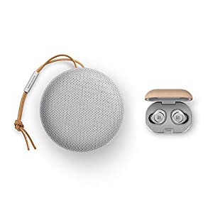 Bang & Olufsen Beosound A1 (2nd Generation) Portable Waterproof Bluetooth Speaker with Microphone, Grey Mist with…