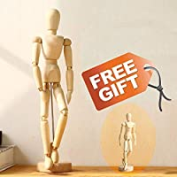 Drawing Figure Mannequin Wooden Model - Wood Human Art Manikin Posable for Artist sketching posing doll 12