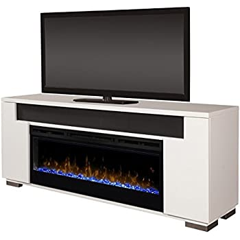 Amazon Com Comfort Smart Cameron Electric Fireplace Tv Stand White