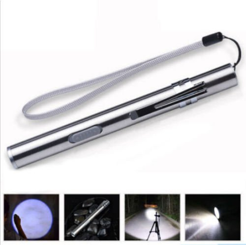 Mini LED Pocket USB Rechargeable Flashlight Linterna Torch Lamp Pen Size Light