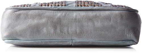 Taschendieb - Td0053g, Bolsos bandolera Mujer, Grau, 8x24x30 cm (B x H T)