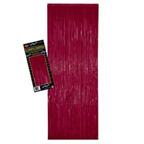 Burgundy Metallic Fringe Curtain ()