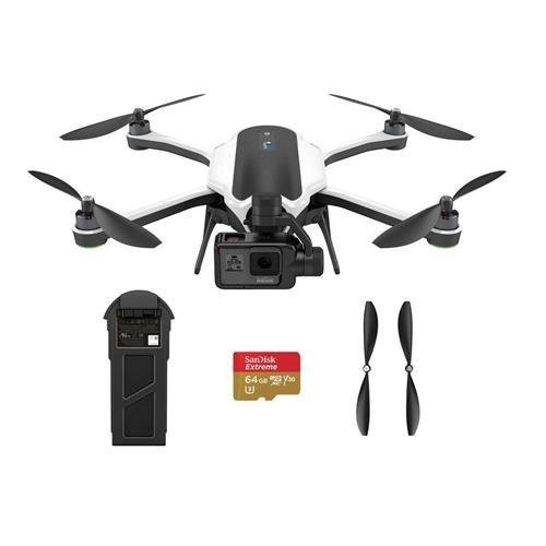 GoPro Karma Quadcopter with HERO5 Black Action Camera, with Transmitter - Bundle with 64GB MicroSDXC U3 Card, Spare Propellers and Spare Battery