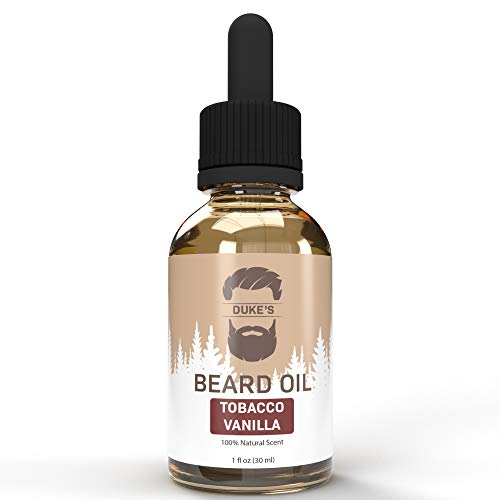 Duke's Beard Oil Conditioner – Tobacco Vanilla Scent – All Natural – Softens, Smooths & Strengthens Beard Growth – Grooming Beard and Mustache Maintenance Treatment