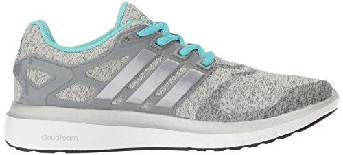 Zapatillas De Running Adidas Mujeres Energy Cloud V Medium Gris Heather / Metálico / Plateado / Easy Mint