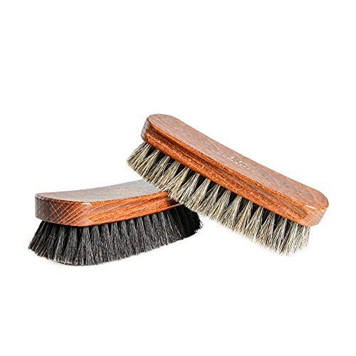 FootFitter Shoe Shine Valet Refill Set - 100% Horsehair Brushes, Shoe Polish, Shoe Horn, Microfiber Shine Cloths! by FootFitter (Image #1)