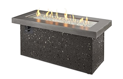 Outdoor Great Room Key Largo Fire Pit with Midnight Mist Top and Grey Base Multibox Kit For Sale