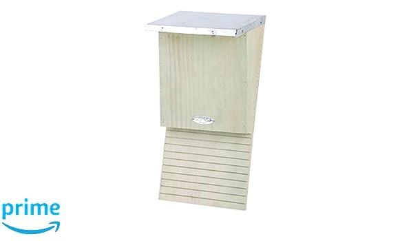 Esschert Design nkvm 39 x 18 x 17 cm caja de madera bate, natural: Amazon.es: Jardín