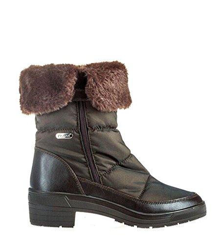 Fur Weatherproof Faux Boot Ventura Brown Womens Pajar q7B0w